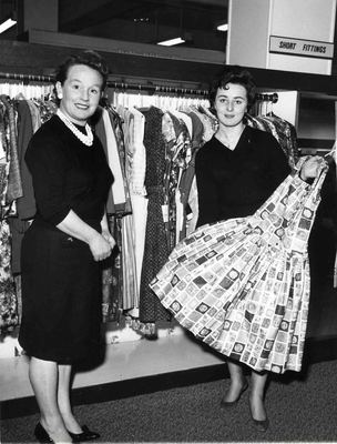 Two female employees in the Ladieswear Department, JF Rockhey Ltd
