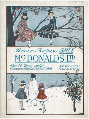 Front cover of McDonalds Ltd Autumn Sale Catalogue