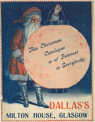 Front cover of Dallas's Ltd Christmas catalogue