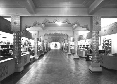 Photograph of James Howell & Company Ltd, Toy department, second floor, decorated for Christmas, 1959.
