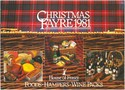Brochure advertising House of Fraser Christmas food and wine hampers, 1981