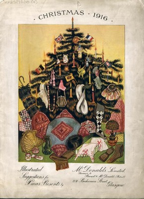 Front cover of McDonalds Ltd, Christmas gifts catalogue, 1916.