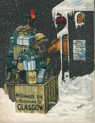 Front cover of McDonalds Ltd, Christmas gifts catalogue, 1917.
