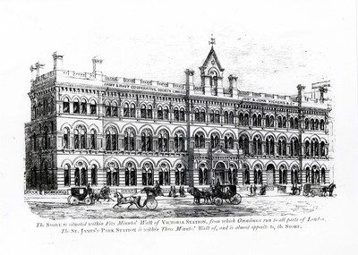 Drawing of the Army and Navy Co-operative Store in London, 1872