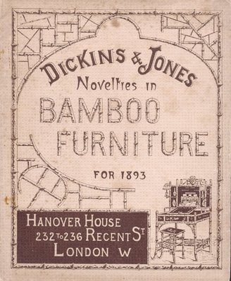 Bamboo furniture catalogue for Dickins and Jones, 1893.