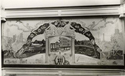 Mural at Mawer & Collingham, Ltd, Lincoln, c.1950s.