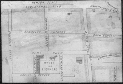 Map showing location of Wylie & Lochhead 1853