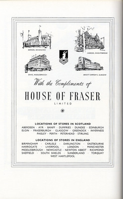 House of Fraser advertisement