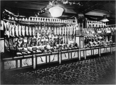 John Barker & Co meat counter 1929.