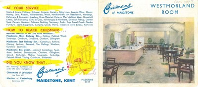 Advertisement for Cheismans of Maidstone