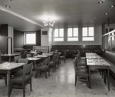 William Henderson & Sons staff restaurant, 1960s.