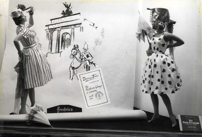 Window display at William Henderson & Sons, 1960s.