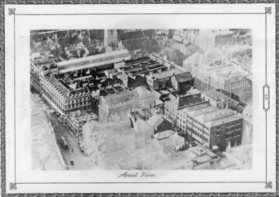James Howell & Co store aerial view, 1925.