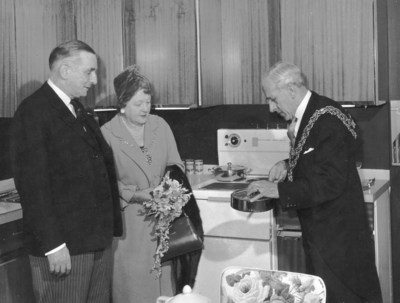 Mayor at Rackhams opening, 1960.